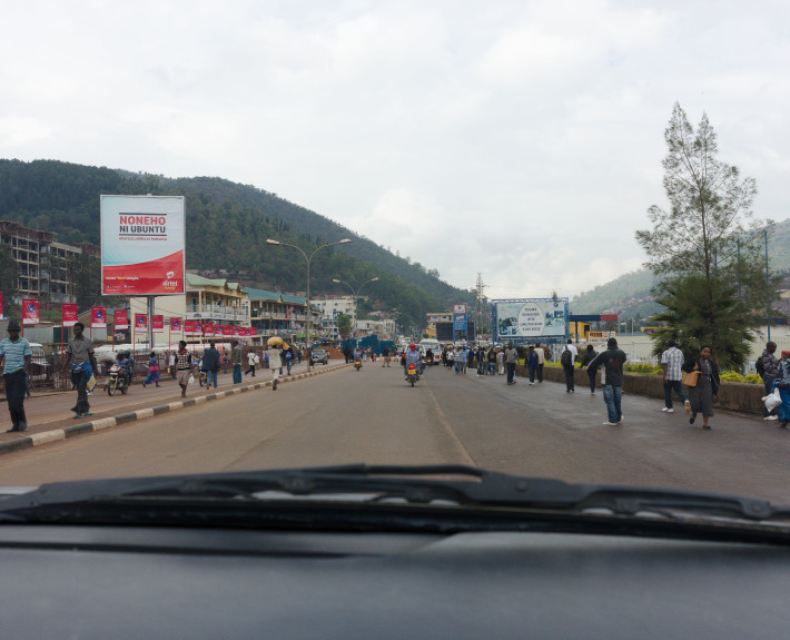Straßenszene in Kigali