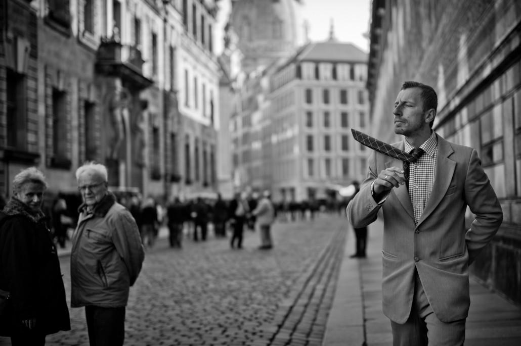 Straßenkünstler in Dresden