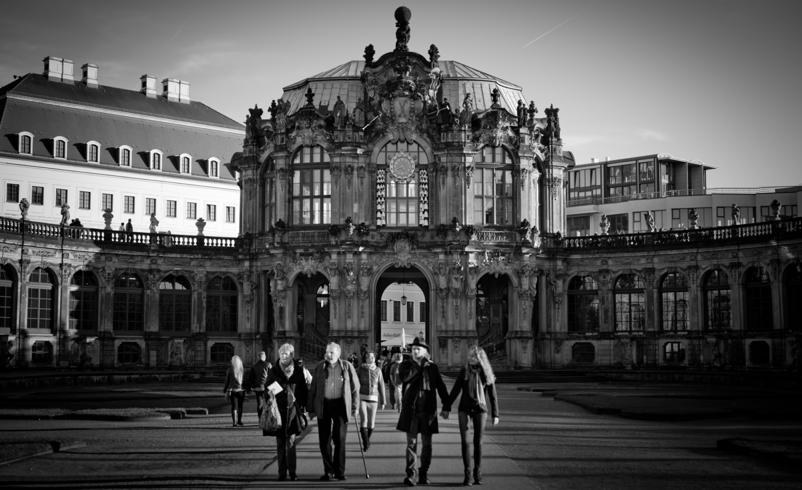 Dresdner Zwinger in schwarz weiss