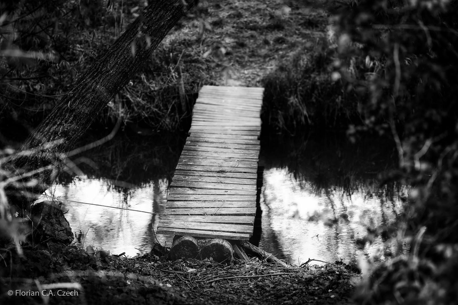 Brücke über einen Bach