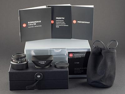 Leica M 28mm 5.6 Summaron matt schwarz lackiert