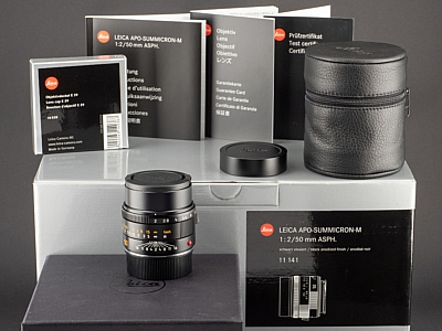 Leica APO-M 50mm 2.0 Summicron 6bit schwarz 11141 vom 27.05.15