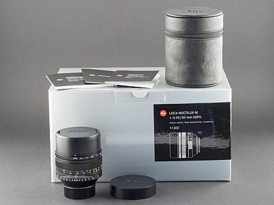 Leica M 50mm 0.95 Noctilux 11602 E60 schwarz aus 2018