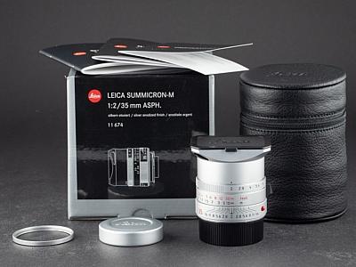 Leica M 35mm 2.0 Asph. Summicron silber 11674