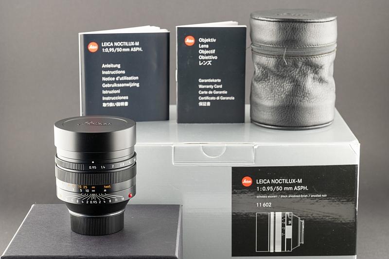 Leica M 50mm 0.95 Noctilux schwarz 11602