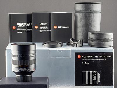 Leica M 75mm 1.25 Noctilux schwarz 11676
