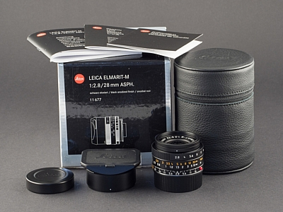 Leica M 28mm 2.8 asph. Elmarit schwarz 11677